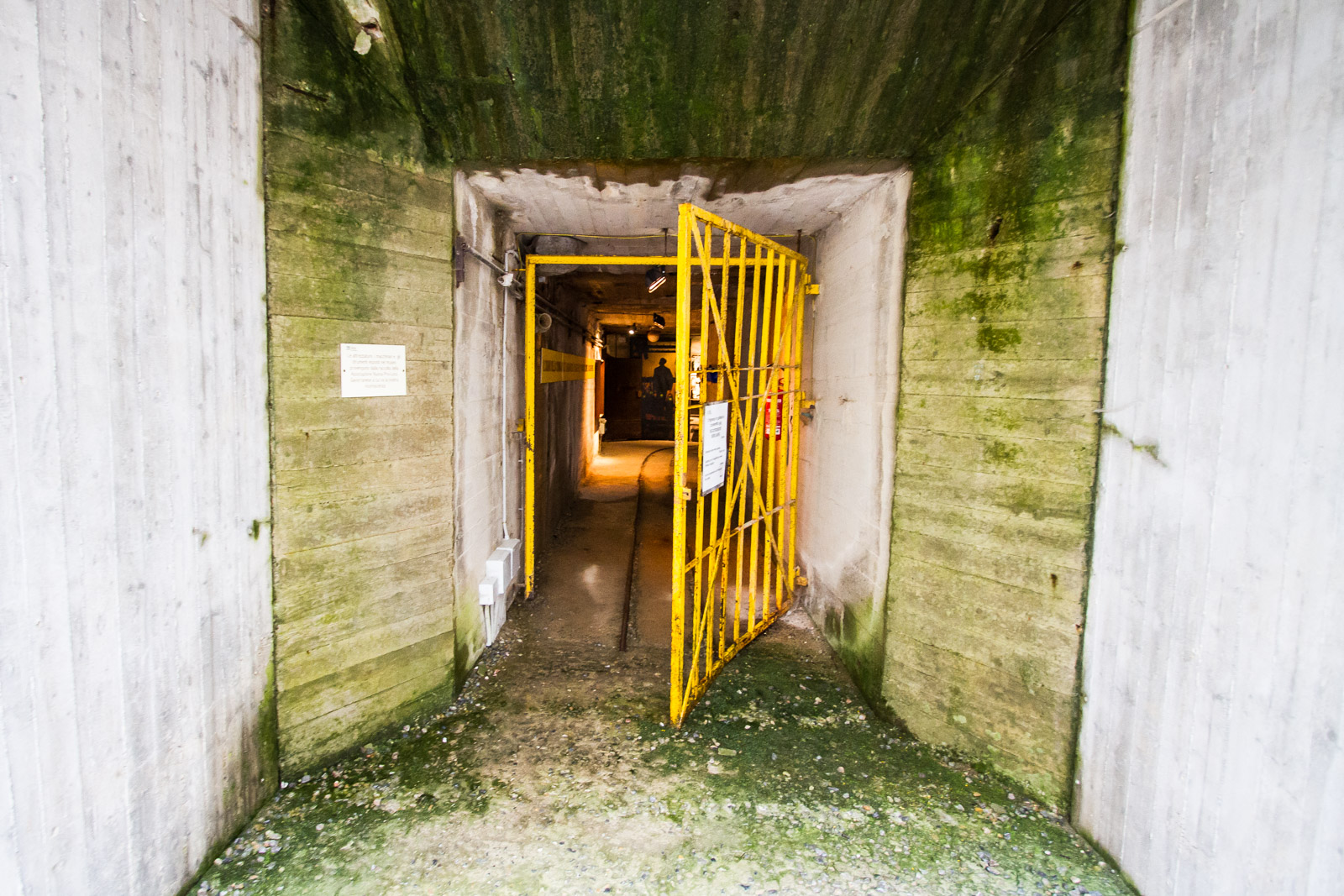 The mine entrance.