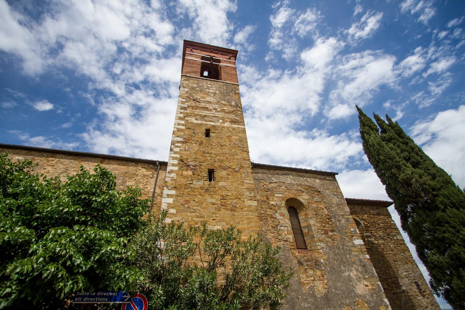 The church tower.