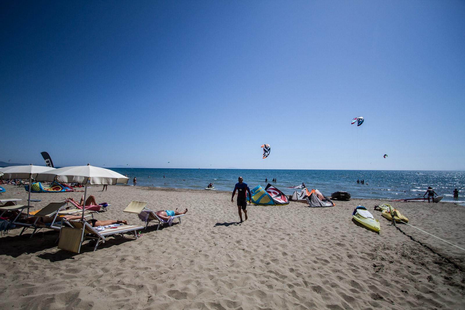 La Pks beach, vicino Marina di Grosseto