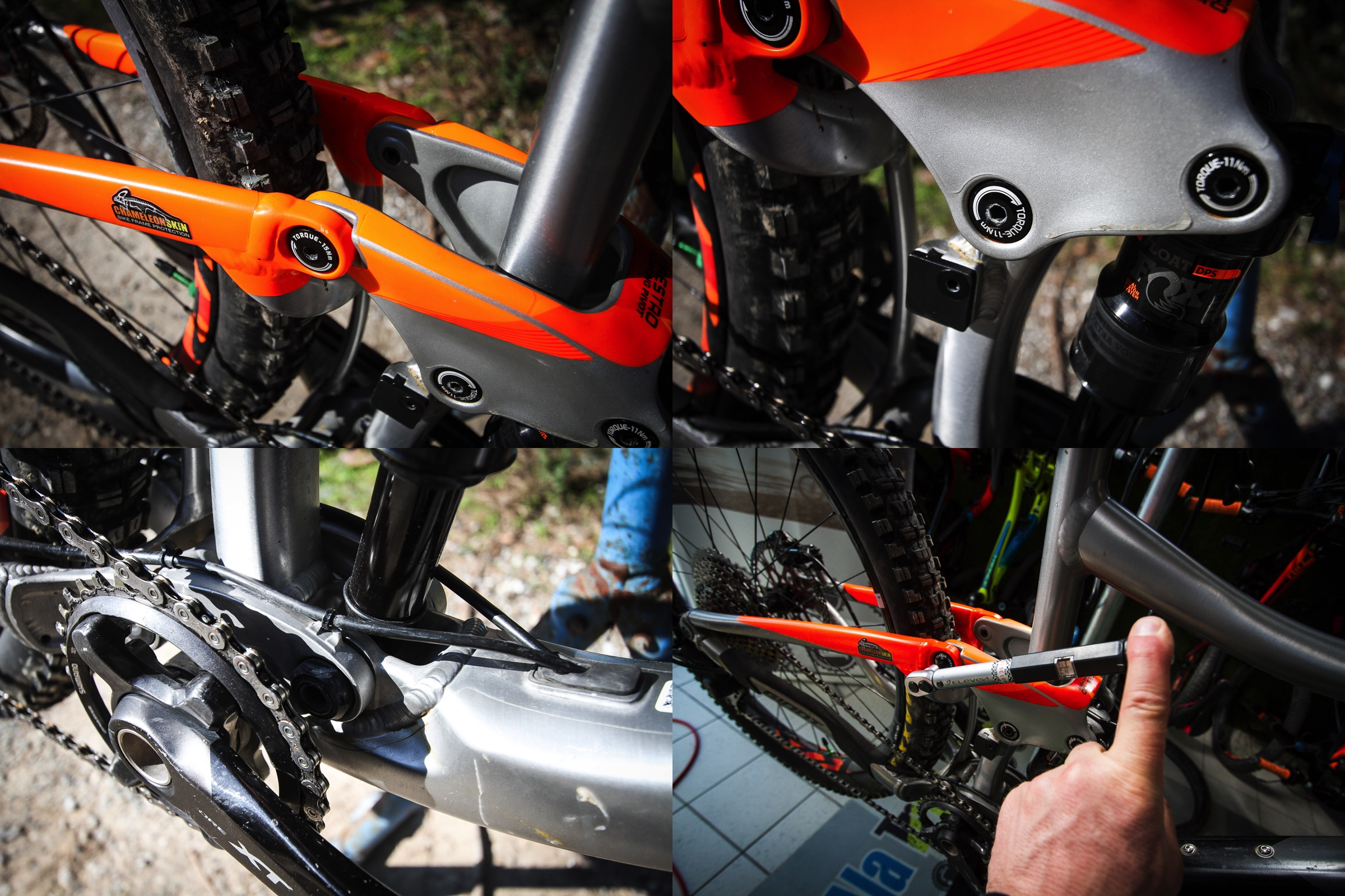 Lastly check all the rear suspension pivots for play and tightness. It is essential to use a torque wrench.