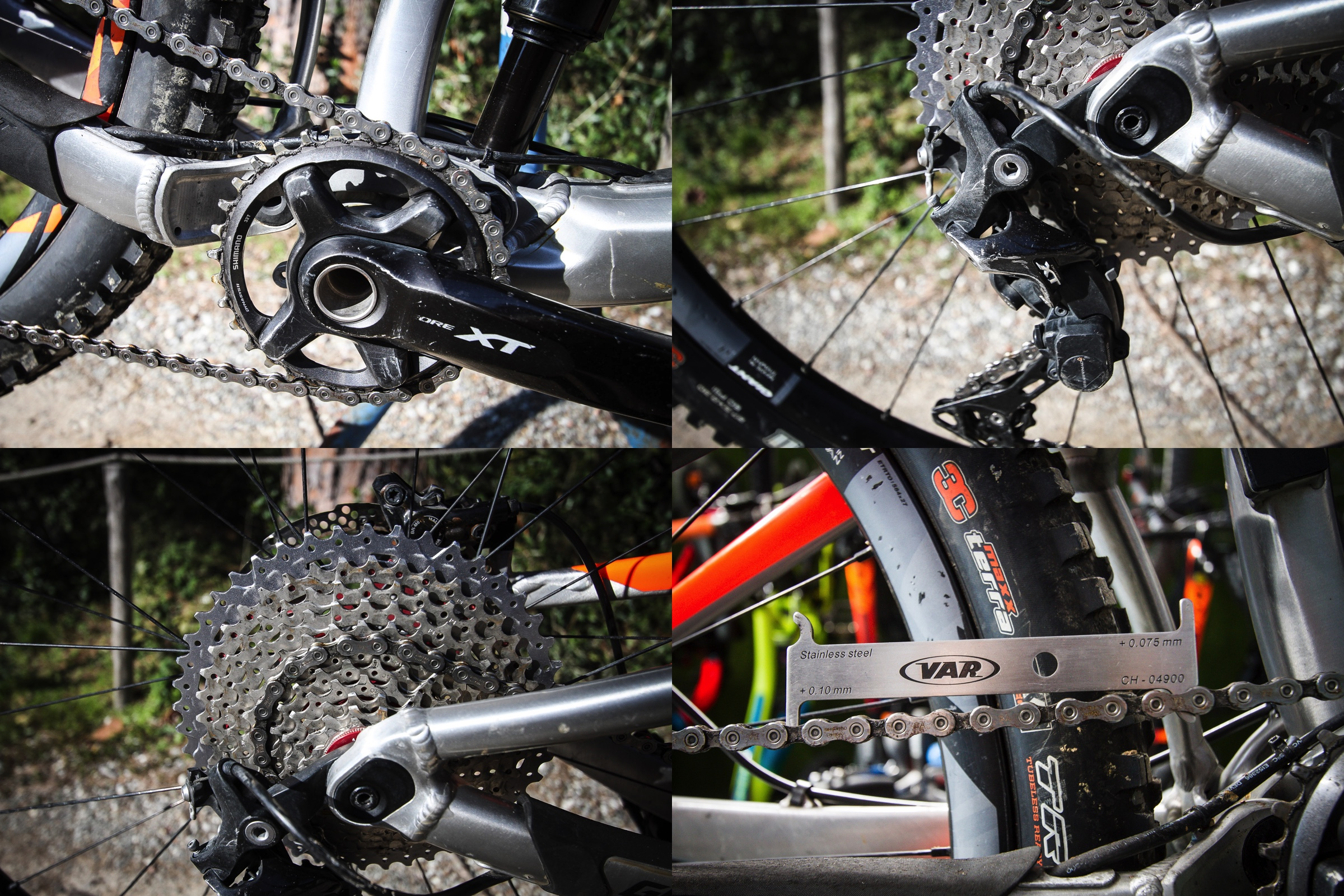 We take a close look at the chain and sprockets, all here are in good working order, our chain tool also shows us that the chain is still in optimum condition.