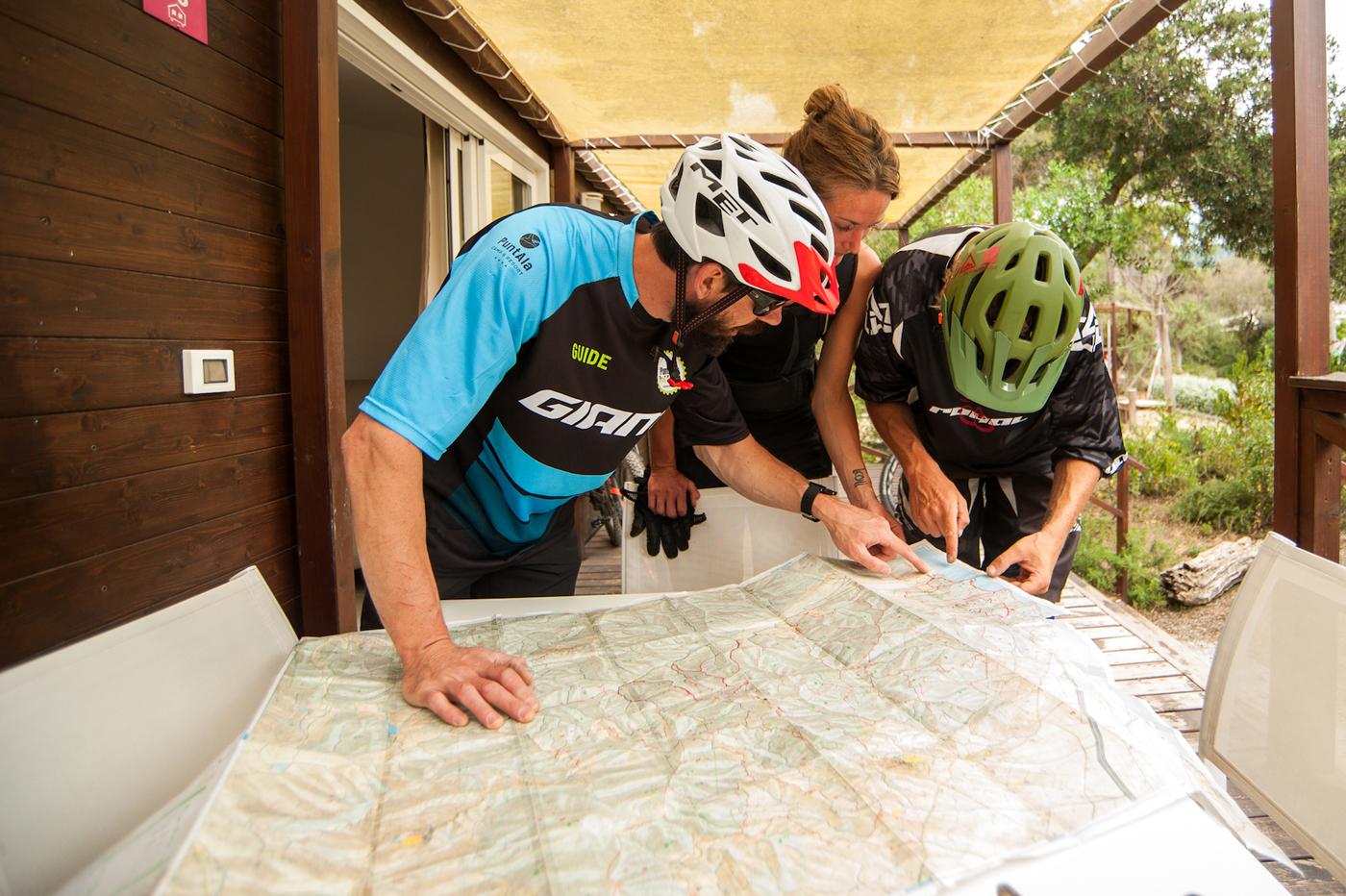 La mappa dei sentieri della Bandite Trail Area